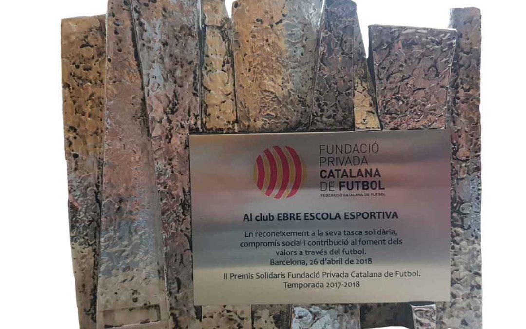 """II Premis Solidaris Fundació Privada Catalana de Futbol,""""Premi Solidari Foment dels Valors"""""""